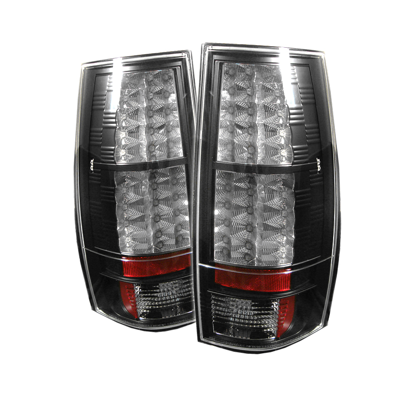 Gmc Denali 2007-2009  Black LED Tail Lights