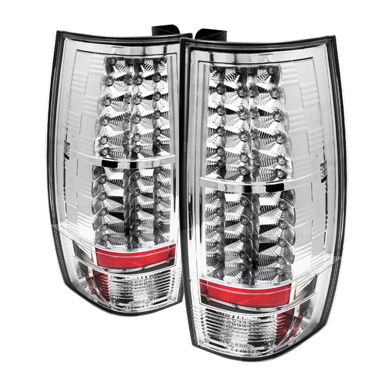 Gmc Denali 2007-2009  Chrome LED Tail Lights