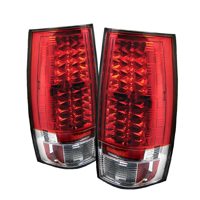 Chevrolet Suburban 2007-2009  Red Clear LED Tail Lights