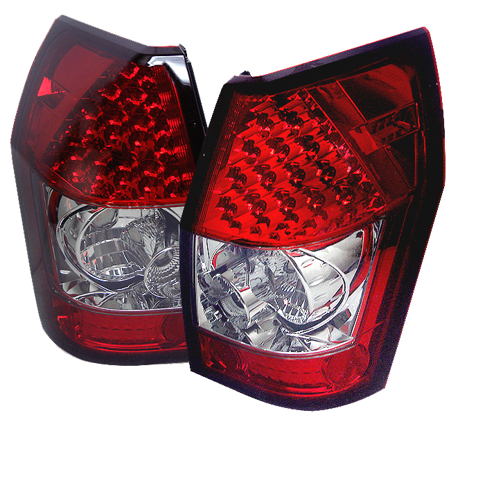 Dodge Magnum 2005-2008  Red Clear LED Tail Lights