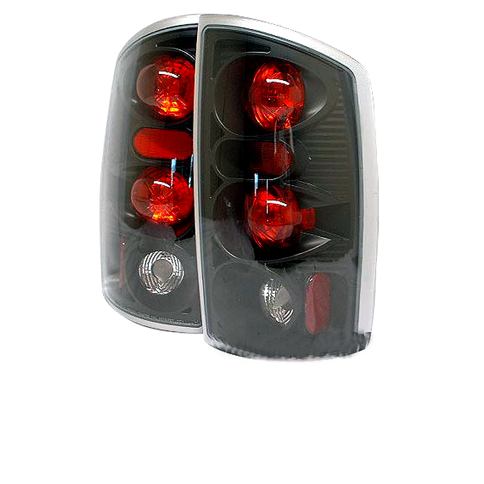 Dodge Ram 2002-2006  Black Euro Style Tail Lights