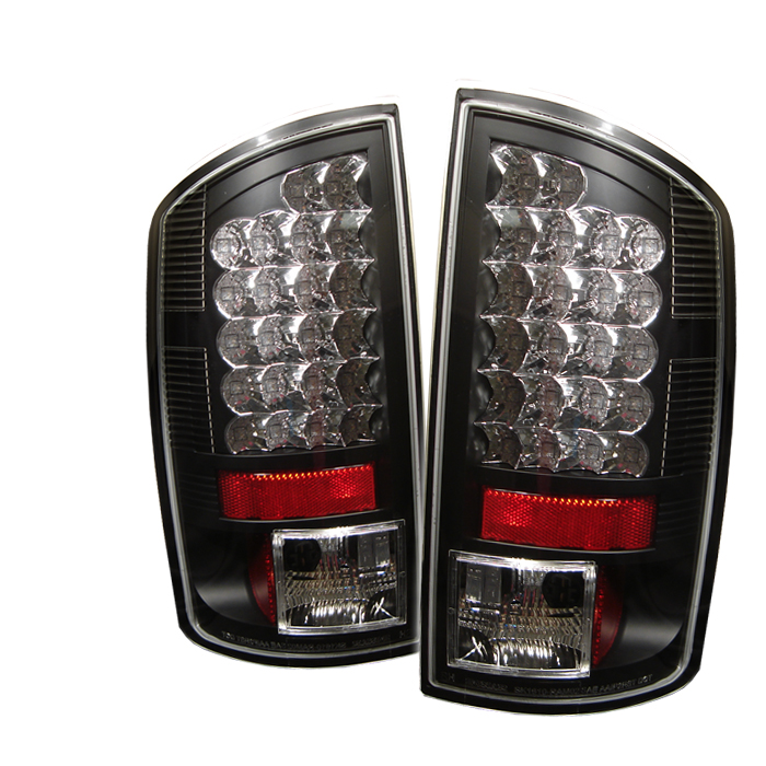 Dodge Ram 2007-2008  Black LED Tail Lights