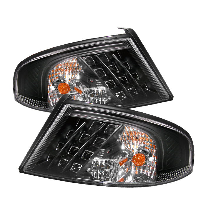 Dodge Stratus 2001-2006  Black LED Tail Lights