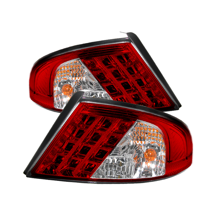 Dodge Stratus 2001-2006  Red Clear LED Tail Lights