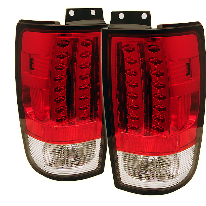 Ford Expedition 1997-2002  Red Clear LED Tail Lights