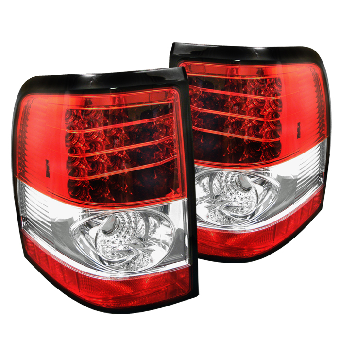Ford Explorer 2002-2005  Red Clear LED Tail Lights