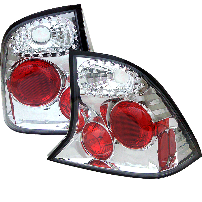 Ford Focus 2000-2004 4DR Chrome Euro Style Tail Lights