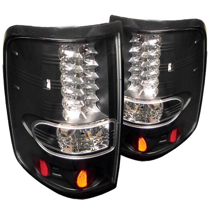 Ford F150 2004-2008  Black LED Tail Lights