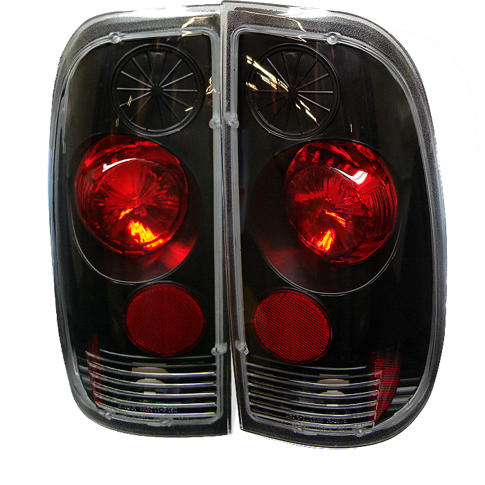 Ford F150 1997-2003  Black Euro Style Tail Lights