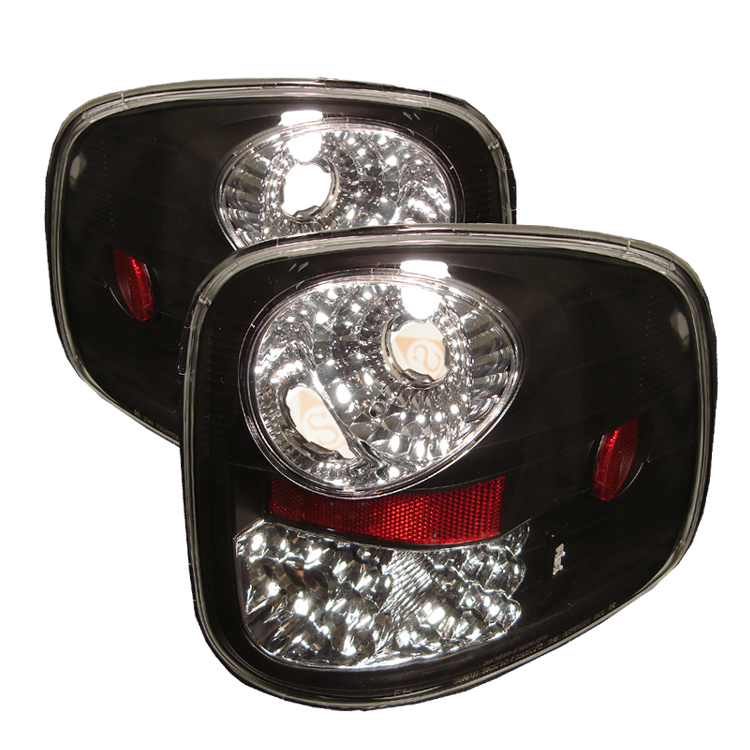 Ford F150 1997-2000  Black Euro Style Tail Lights