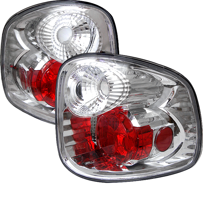 Ford F150 1997-2000  Chrome Euro Style Tail Lights Flareside