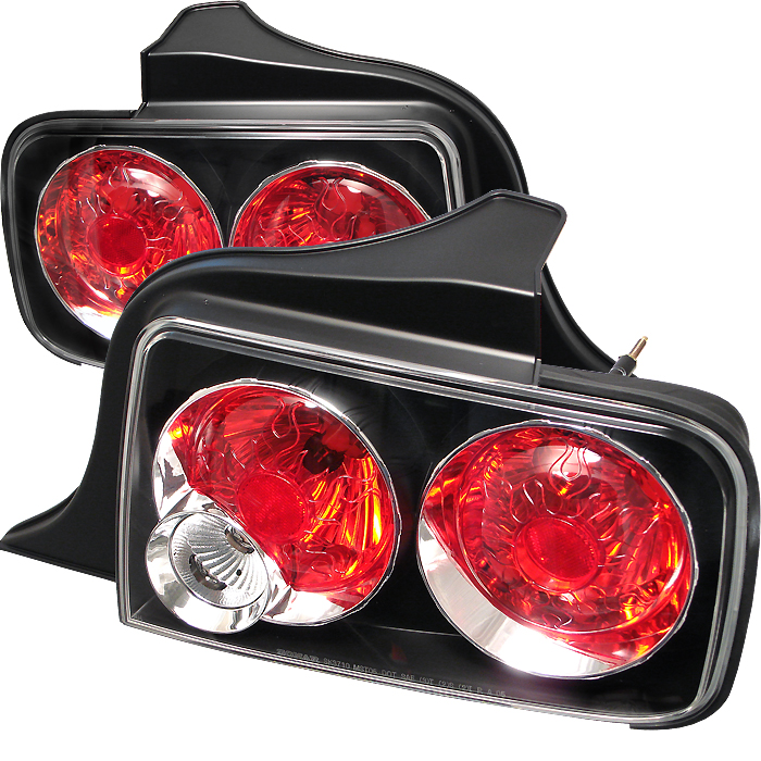 Ford Mustang 2005-2008  Black Euro Style Tail Lights