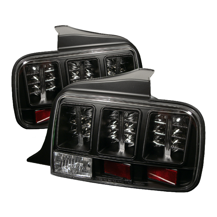 Ford Mustang 2005-2008  Black LED Tail Lights