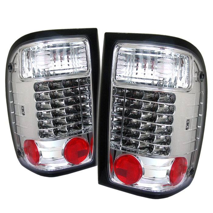 Ford Ranger 1993-1997  Chrome LED Tail Lights