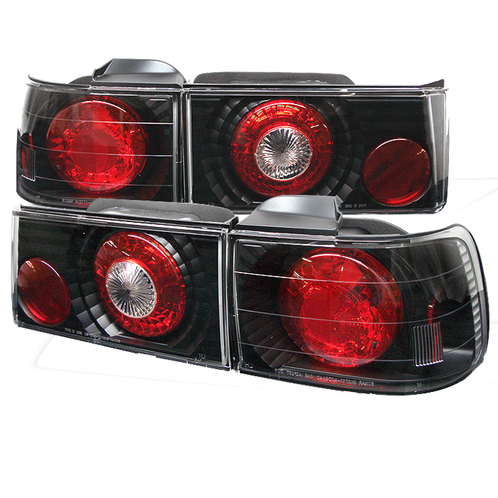 Honda Accord 1990-1991 4DR Black Euro Style Tail Lights