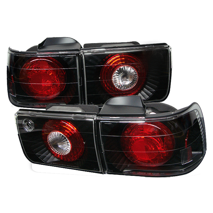 Honda Accord 1992-1993 4DR Black Euro Style Tail Lights