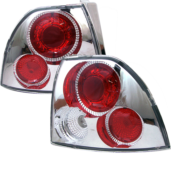 Honda Accord 1994-1995  Chrome Euro Style Tail Lights