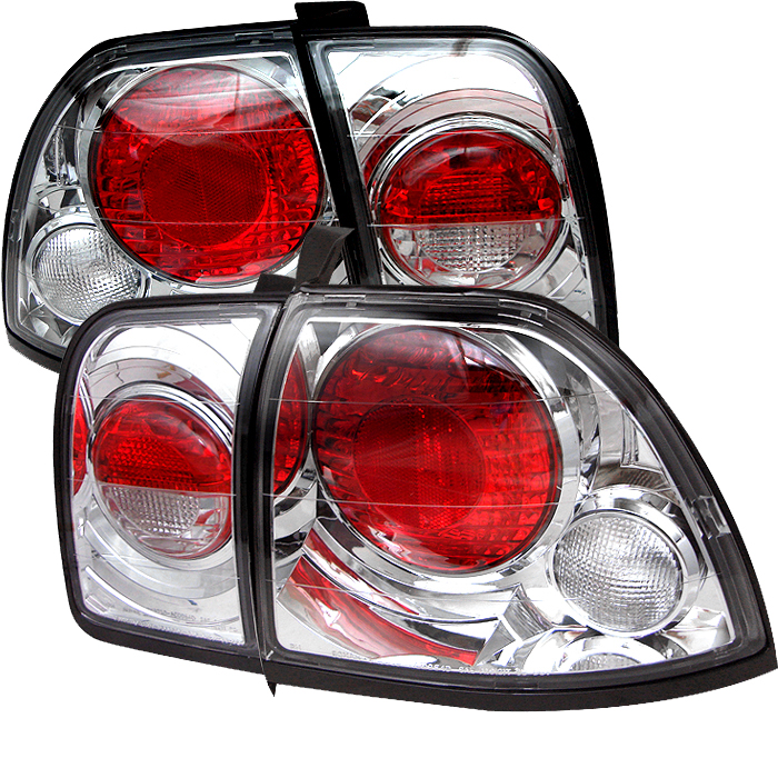 Honda Accord 1996-1997  Chrome Euro Style Tail Lights