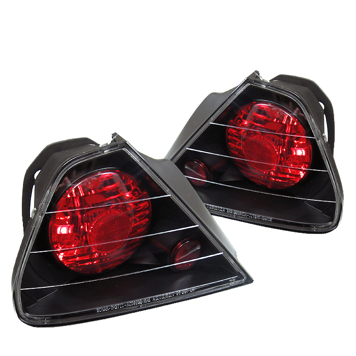 Honda Accord 1998-2000 2DR Black Euro Style Tail Lights