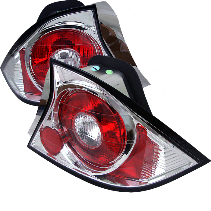 Honda Civic 2001-2003 2DR Chrome Euro Style Tail Lights