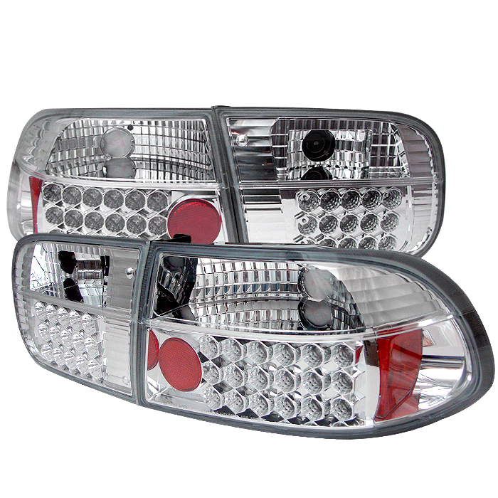 Honda Civic 1992-1995 2/4dr Chrome LED Tail Lights