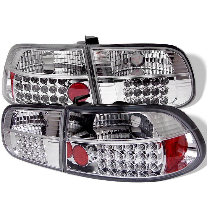 Honda Civic 1992-1995 3dr Chrome LED Tail Lights