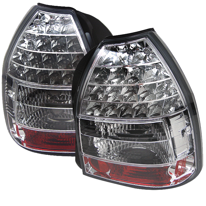 Honda Civic 1996-2000 3dr Chrome LED Tail Lights
