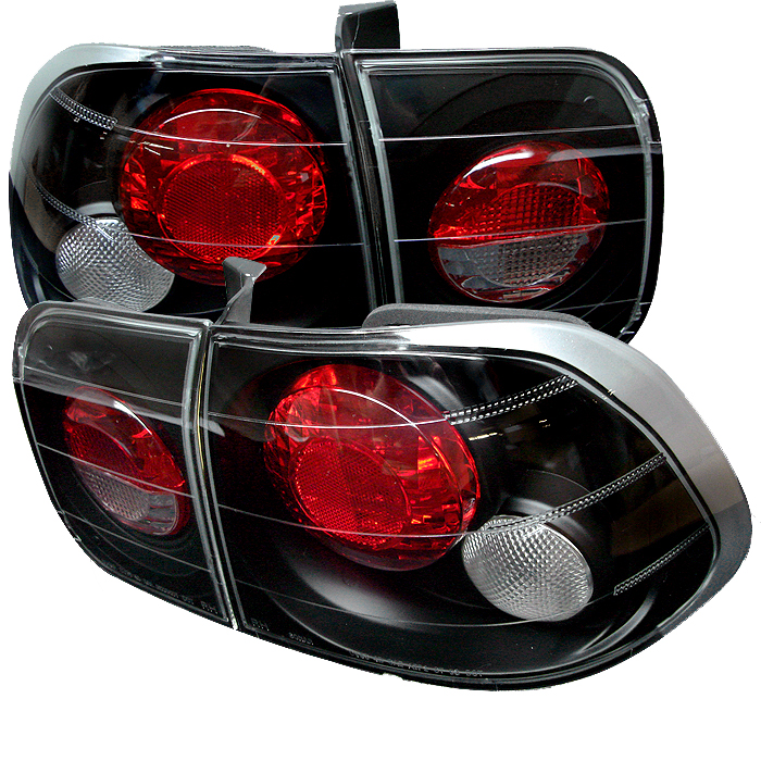 Honda Civic 1996-1998 4DR Black Euro Style Tail Lights