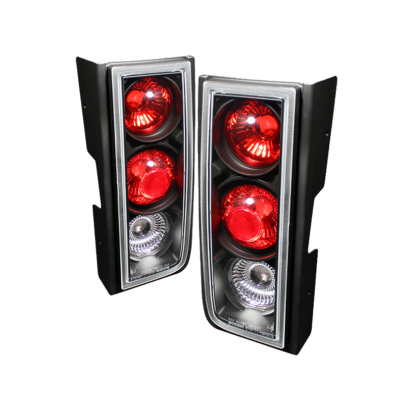 Hummer H2 2001-2005  Black Euro Style Tail Lights