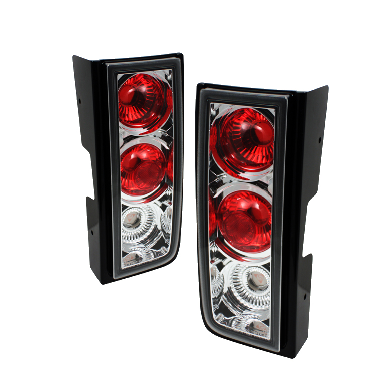 Hummer H2 2001-2005  Chrome Euro Style Tail Lights