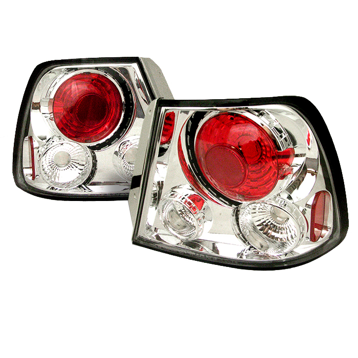 Hyundai Accent 2000-2002  Chrome Euro Style Tail Lights