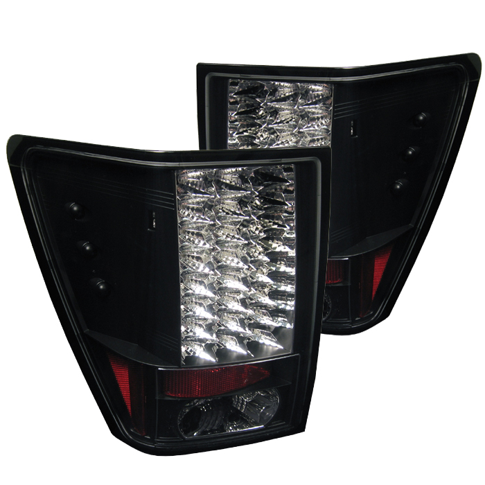 Jeep Grand Cherokee 2005-2006  Black LED Tail Lights