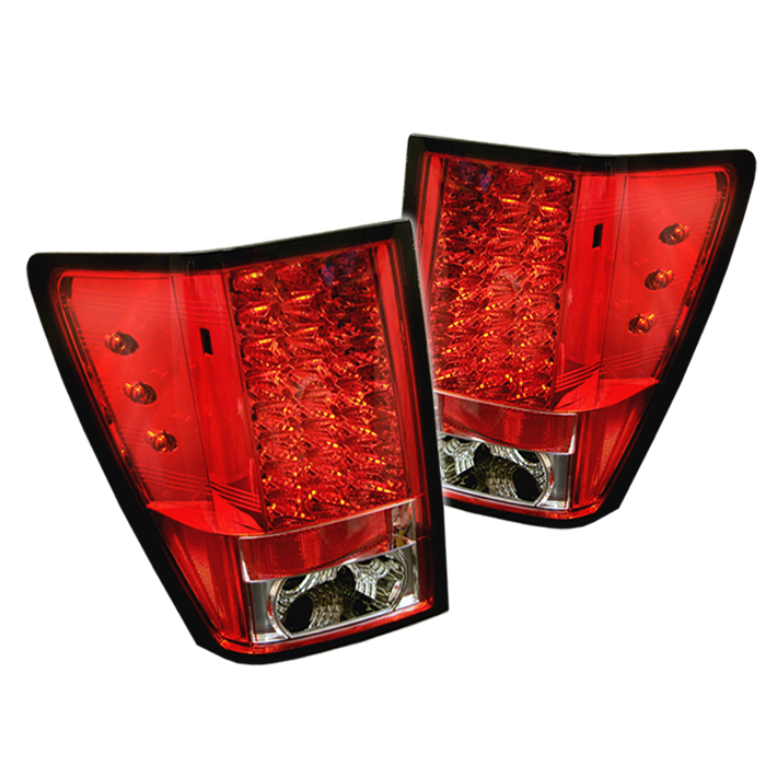 Jeep Grand Cherokee 2005-2006  Red Clear LED Tail Lights