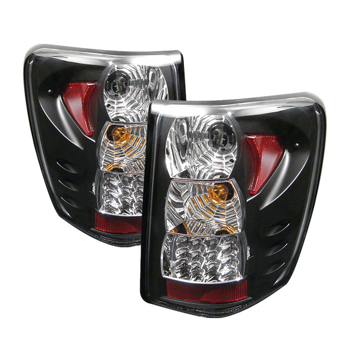 Jeep Grand Cherokee 1999-2004  Black LED Tail Lights