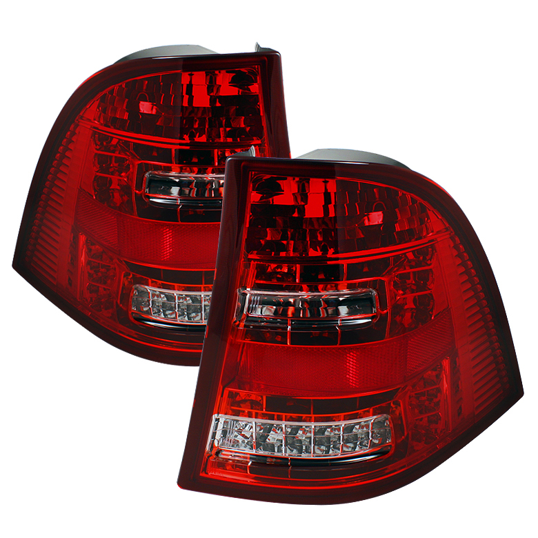 Mercedes Benz Ml Class 1998-2005  Red Clear LED Tail Lights