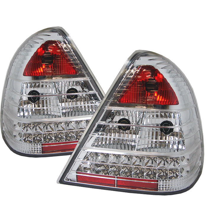 Mercedes Benz C Class 1994-2000  Chrome LED Tail Lights