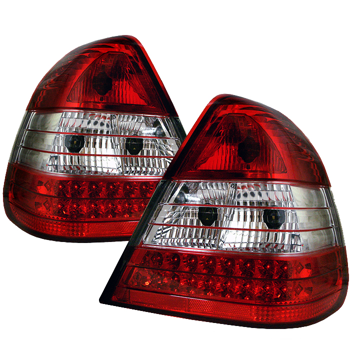 Mercedes Benz C Class 1994-2000  Red Clear LED Tail Lights