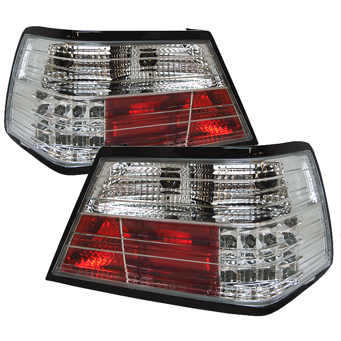 Mercedes Benz E Class 1986-1995  Chrome LED Tail Lights