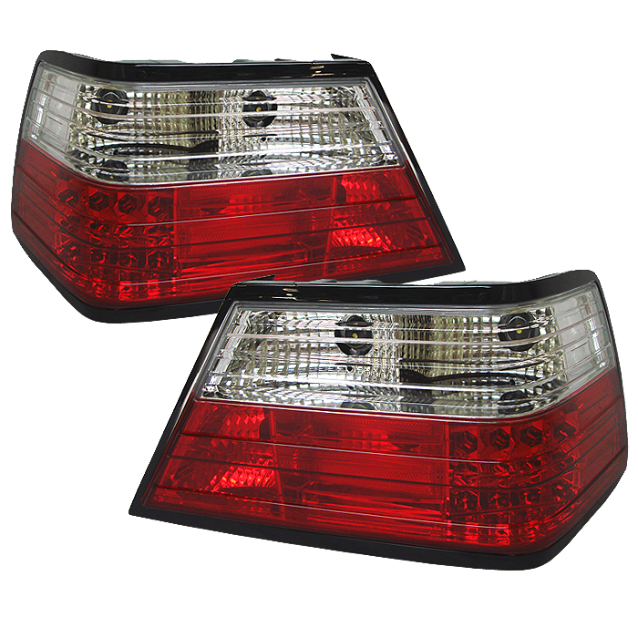 Mercedes Benz E Class 1986-1995  Red Clear LED Tail Lights