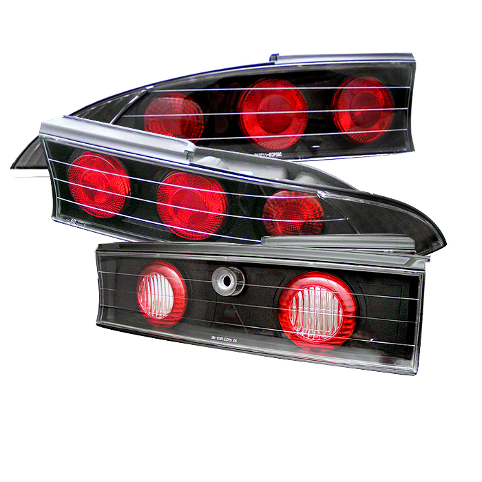 Mitsubishi Eclipse 1995-1999  Black Euro Style Tail Lights