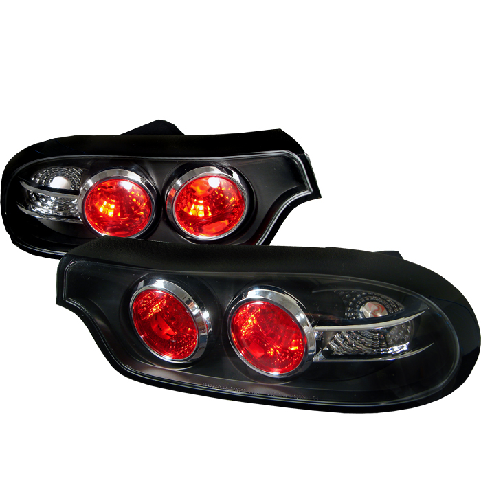 Mazda Rx7 1993-2001  Black Euro Style Tail Lights