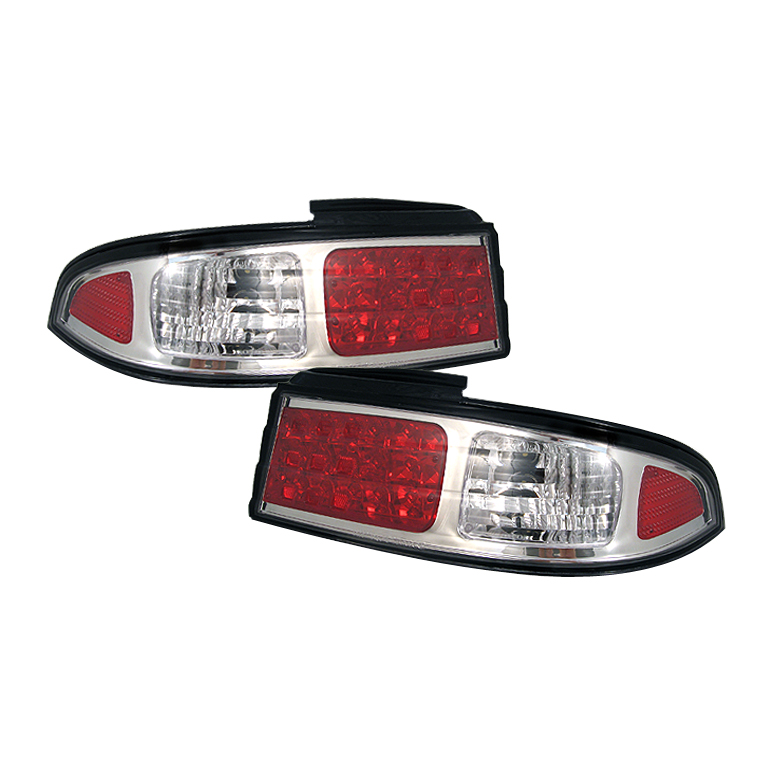 Nissan 240SX 1995-1996  Chrome LED Tail Lights