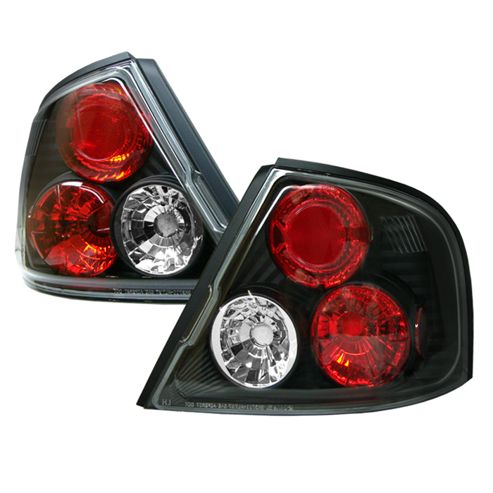 Nissan Altima 1998-2001  Black Euro Style Tail Lights