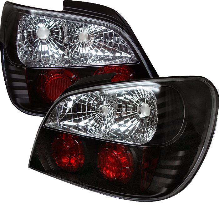 Subaru Impreza 2002-2003  Black Euro Style Tail Lights