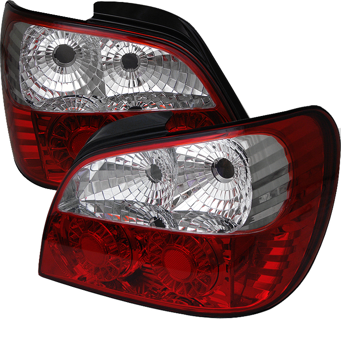 Subaru Impreza 2002-2003  Red Clear LED Tail Lights