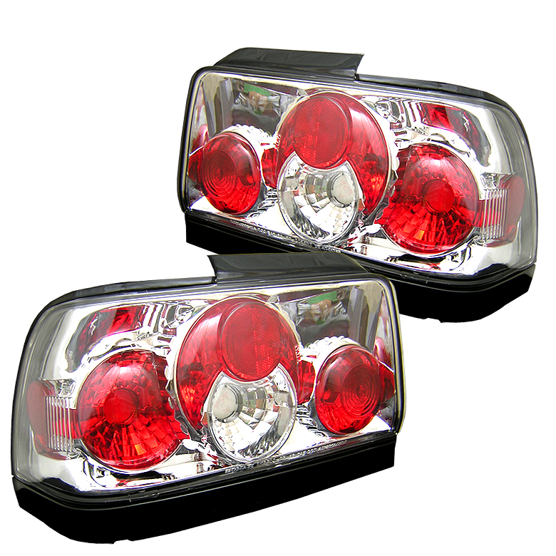 Toyota Corolla 1996-1997  Chrome Euro Style Tail Lights