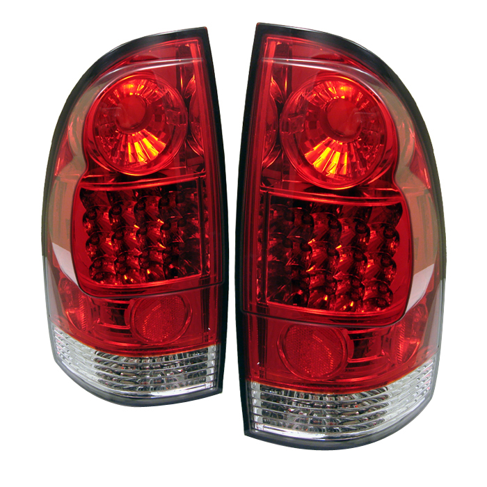 Toyota Tacoma 2005-2007  Red Clear LED Tail Lights