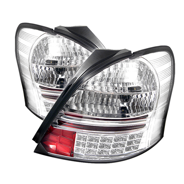 Toyota Yaris 2006-2008 2dr Chrome LED Tail Lights