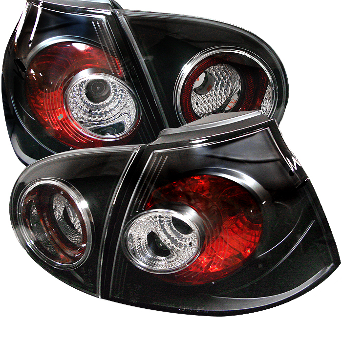 Volkswagen Golf 2006-2008  Black Euro Style Tail Lights