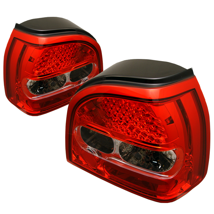 Volkswagen Golf 1993-1998  Red Clear LED Tail Lights